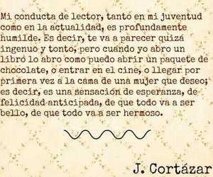 cortazar, frase, and libro image