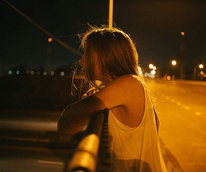girl, night, and alternative image
