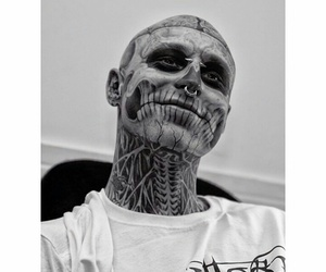 smile, tattoo, and rick genest image