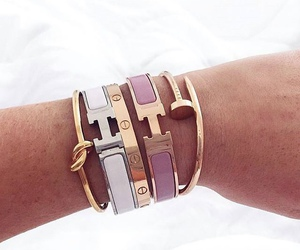 gold, hermes, and pink image