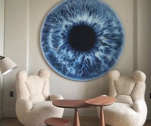 eye, blue, and room image
