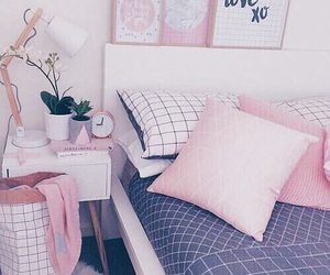 pink, aesthetics, and bedroom image