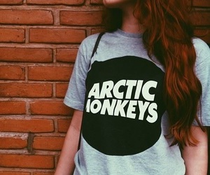 arctic monkeys, girl, and black and white image