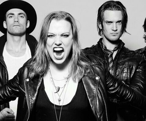 halestorm and black and white image