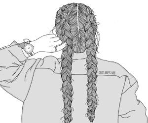 braids, tumblr, and drawing image