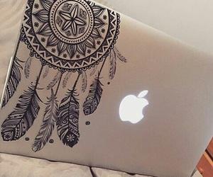 apple, macbook, and dreamcatcher image