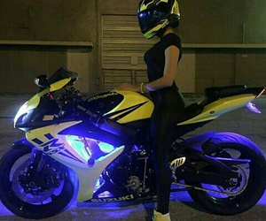 girl, beautiful, and motorbike image