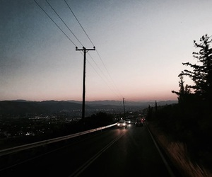Road Trip, sunset, and travel image