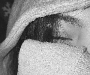 blackandwhite, eye, and music image