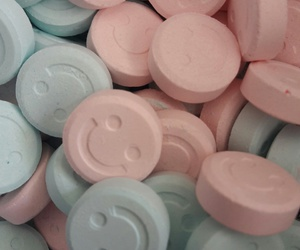 happy, pills, and smile image