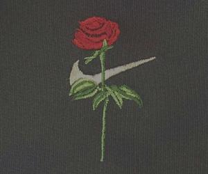 rose, black, and nike image