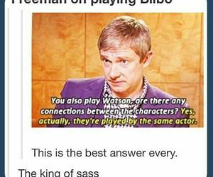 sherlock, Martin Freeman, and funny image