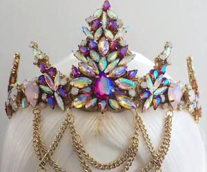 crown, crystals, and festival image