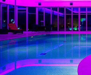 pool, purple, and neon image
