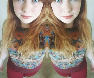 blue eyes, ginger hair, and me image