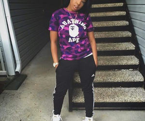 adidas, outfit, and purple image