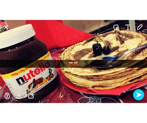 crepes, nutella, and lové image