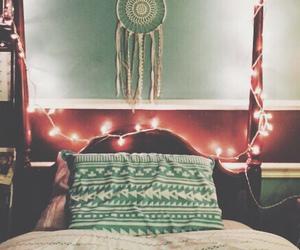 bed, bedroom, and dreamcatcher image