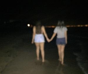 beach, night, and verano image