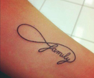 family, tattoo, and infinity image
