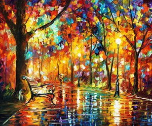 colors, Oil Painting, and leonid afremov image