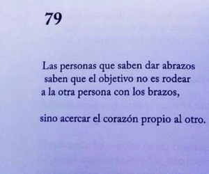 frases, love, and abrazos image