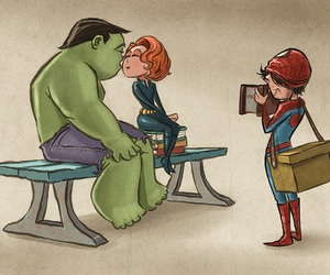 Hulk, black widow, and Marvel image