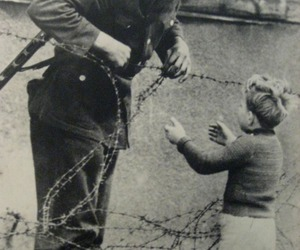 black and white, kid, and war image