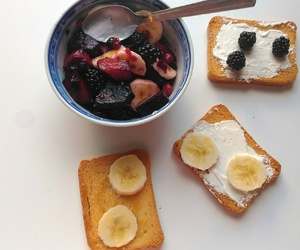 banana, blueberries, and fit image