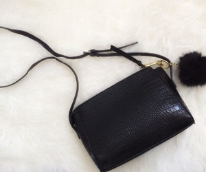 bag, Bershka, and black image