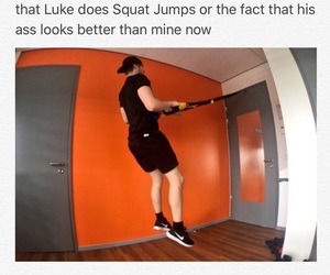 funny, luke hemmings, and 5 seconds of summer image