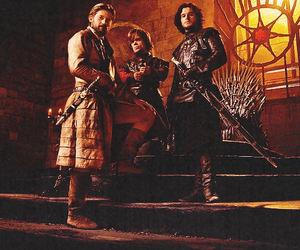jon snow, jaime lannister, and tyrion lannister image