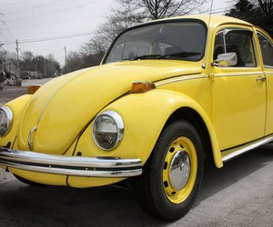 beetle, car, and yellow image