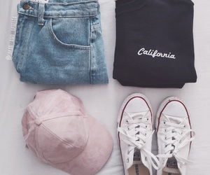 american apparel, converse, and pink image