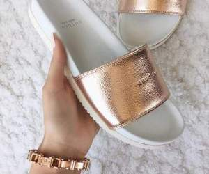 gold, fashion, and shoes image