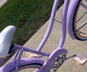 purple, bike, and aesthetic image