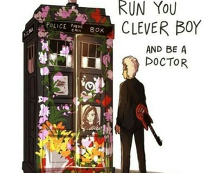 doctor who, tardis, and clara image