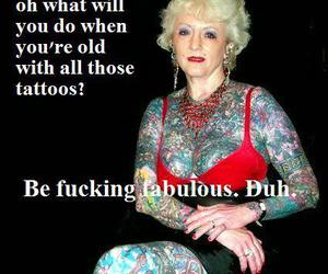tattoo, fabulous, and old image