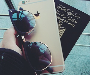 airport, iphone, and passport image
