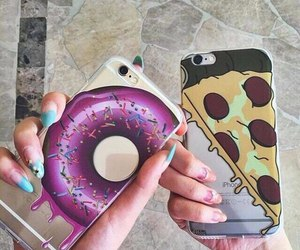 pizza, iphone, and donuts image