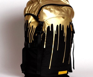backpack, bag, and gold image