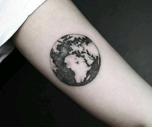tattoo, world, and earth image