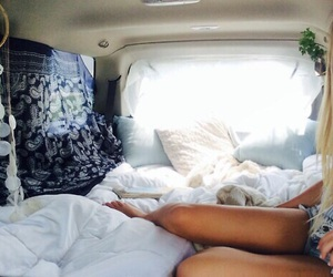 girl, bed, and summer image