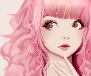 anime, pink, and anime girl image