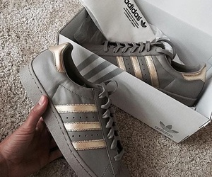 adidas, gold, and grey image