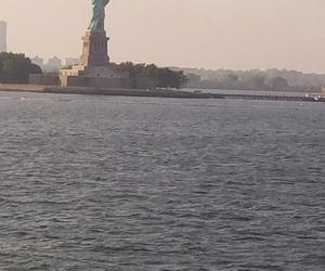 nyc, statue of liberty, and travel image