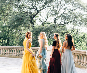 beautiful, maid of honor, and barefoot blonde image