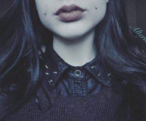 piercing, black, and goth image
