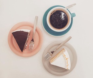 cake, cup, and drink image