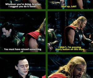 thor, loki, and funny image